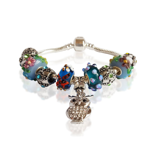 Smart Owl Bracelet in Bermuda Blue
