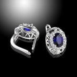 2.2 ct tw Blue Sapphire Earrings