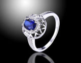 1 ct Blue Sapphire Ring