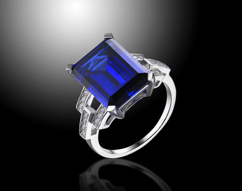 Blue Sapphire Ring - 9.5 Ct