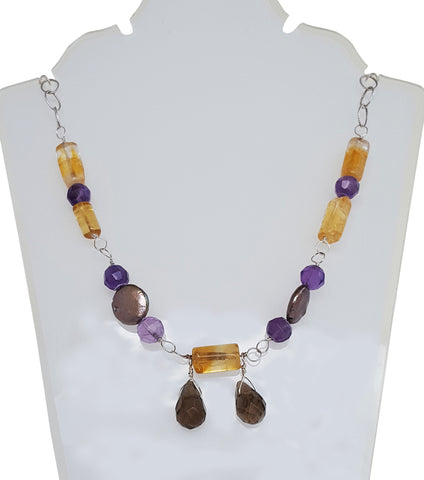 Selena Smoky Topaz Briolettes Necklace