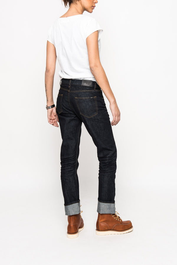 Carmen straight jeans cotton selvedge superjeans of sweden raw denim