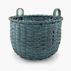Early New England Blue Basket