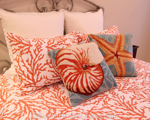 Shells, Sanddollars & Sea Stars Pillows