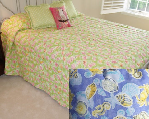 Sealife Bedspread, 2 Colors