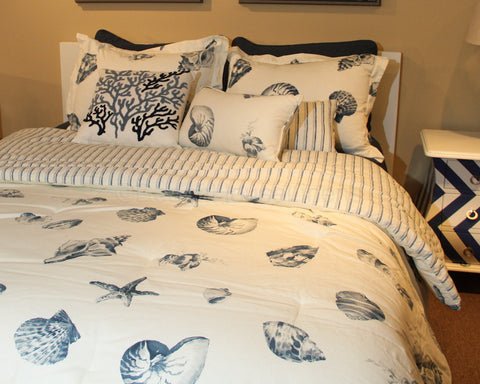 Seaside Shells Comforter Sets and Duvet Sets
