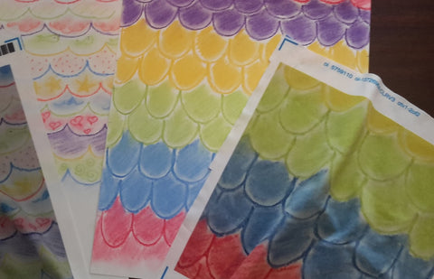 Swatches from our design printed on fabric at Spoonflower