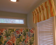 Splish Splash coordinate stripe valance