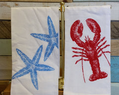 Lobster Krinkle Flour Sack Towel
