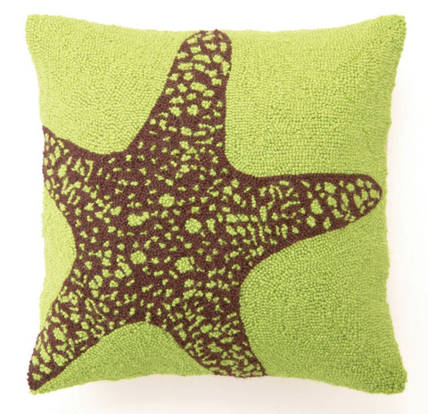 Green Starfish Hook Pillow