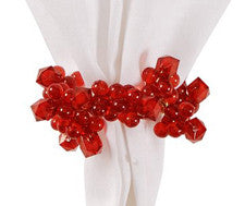 Red Beaded Napkin Ring