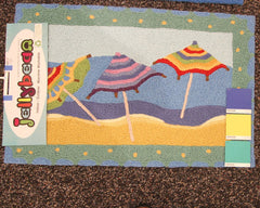 Beach Umbrellas Jellybean Rug