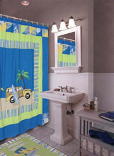 Surfer Bay Shower Curtain