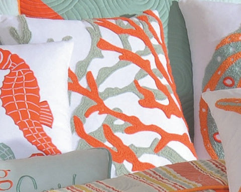 Fiesta Key Coral Pillow