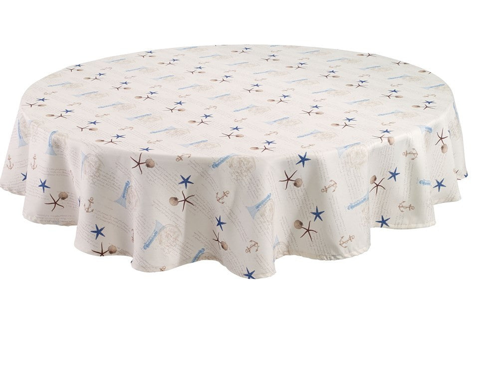 Antiqua Tablecloth Collection Ocean Insprired Print