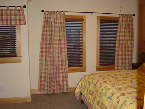 Plaid Tab Drapes: Custom Item