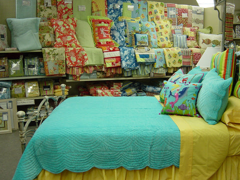 Cotton Velvet Quilt in bright colors