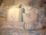 Natural Shells Quilt shown with additional toss pillows, sold separately.