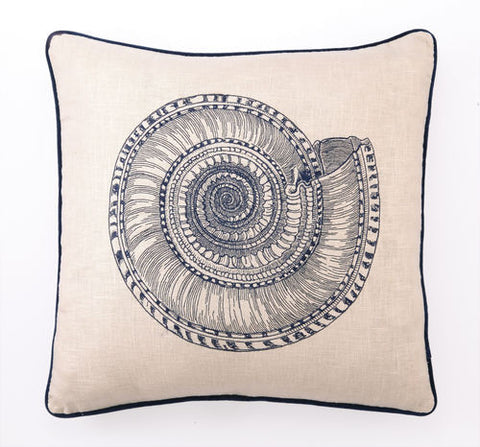 Trochus Embroidered Shell Down Pillow