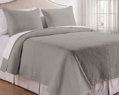Manchester Cement Quilted Coverlet Set, includes Sham(s)