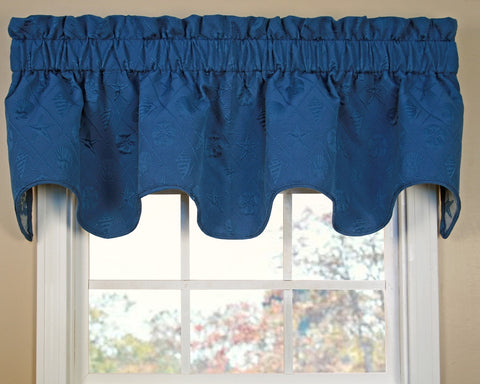 Shell Trellis Scalloped Valance