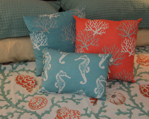 Coastal Coral Pillow