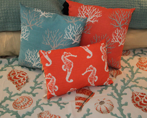 Coastal Seahorses Pillow