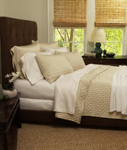 Box Quilted Queen Bamboo Coverlet