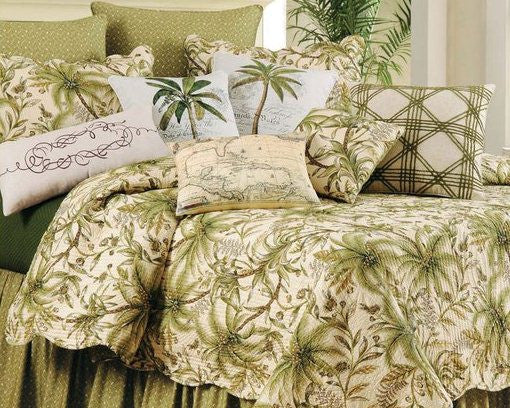 Barbados Sand Tropical Quilt From C Amp F Best Prices Beach House Linens