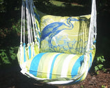 Blue and Green Heron Indoor/Outdoor Pillow