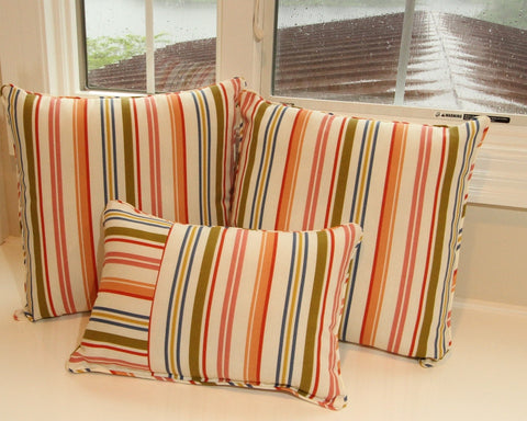 Stripe Beach Umbrella Rainbow Pillow