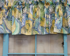 Blue, Yellow & Green Shell Valance