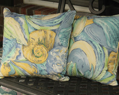 Blue, Yellow & Green Shell Pillow