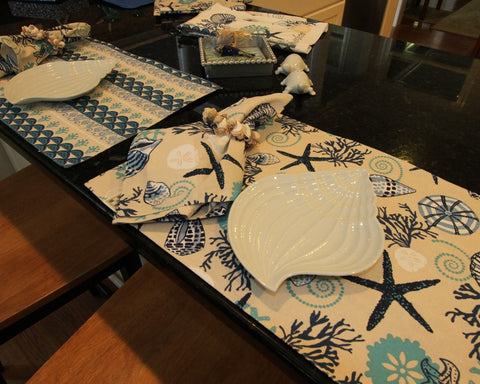 Blue Teal Shells Tabletop