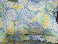 Blue, Yellow, Green Shell Sham