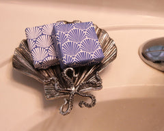 Metal Fan Shell Soap Dish