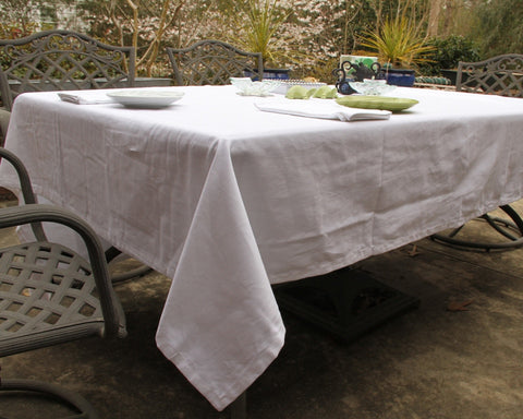 Butler Service White Tablecloth