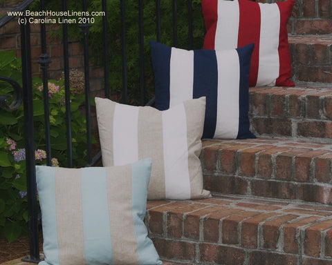 Cabana Stripe Linen Pillow