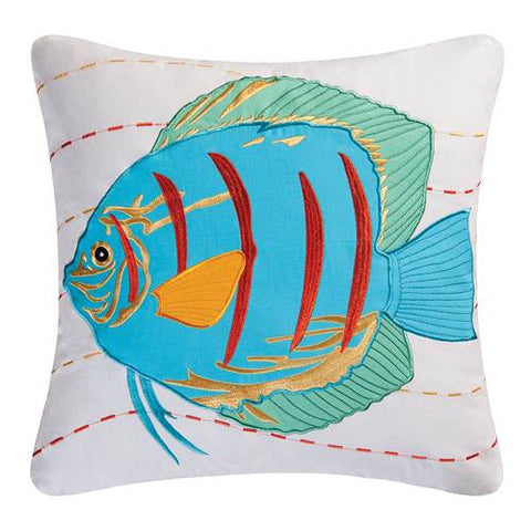 Blue Tropical Applique Fish