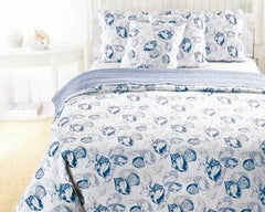 Blue Seaside Quilt set