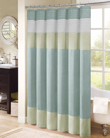 Carter Shower Curtain With Pintuck Details Beach House Linens