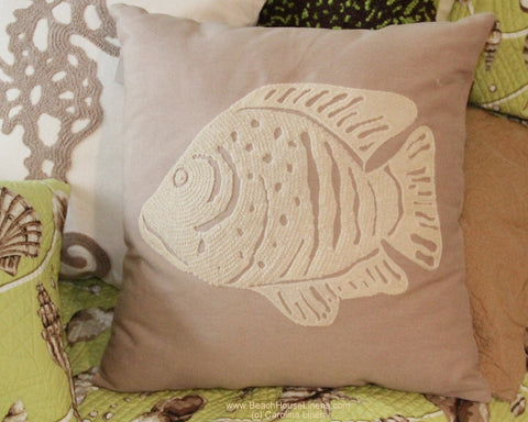 Fish Tan Pillow
