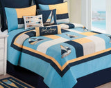 Channel Harbor Nautical Quilt