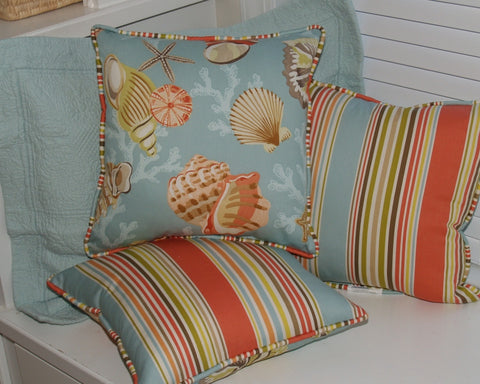 Coral Beach Reversible Pillow