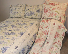 Coral Bordered Quilt Set