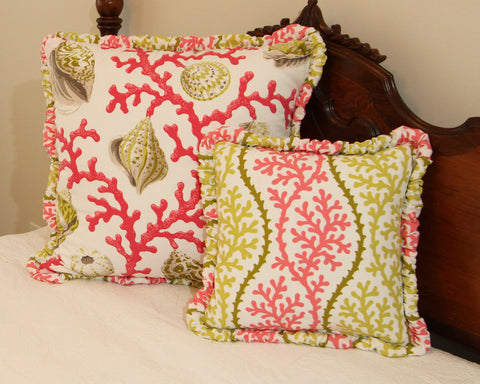Seashell Barnacle Reversible Pillow