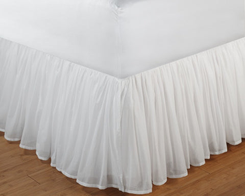 Cotton Voile White Bedskirt