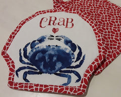 Blue Crab Heart Pot Holder