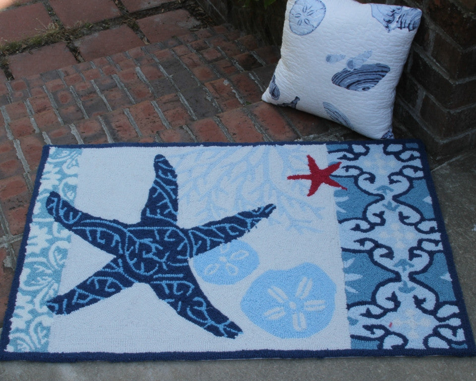 Italian Tile Starfish Carefree Rug