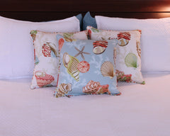 Coral Beach with Bias Cording Pillow